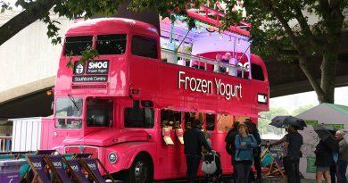 倫敦Southbank的Frozen Yogurt流動售賣巴士